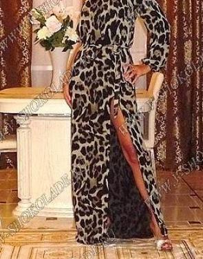 """Платье Шифоновое на одно плечо """"Леопард"""""""