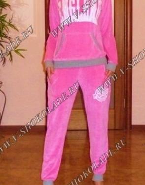 """Велюровый костюм """"London"""" Розовый"""