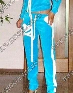 """Велюровый костюм """"Филипп Плэйн"""" Голубой Classic"""