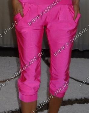 Ярко-Розовые Бриджи с карманами купить в интернет магазине