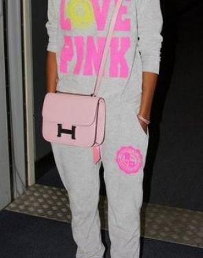 """Велюровый костюм Классика """"Love Pink"""" Светло серый"""
