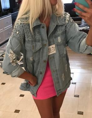 Ультрамодная куртка женская Джинсовка