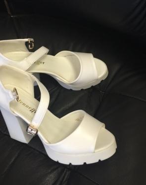 Туфли летние белые