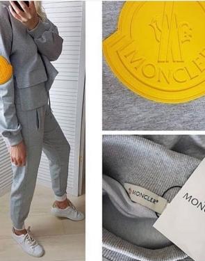 Женский утепленный спортивный костюм MONCLER / Серый