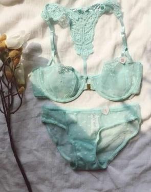 Комплект кружевного женского белья / Мята