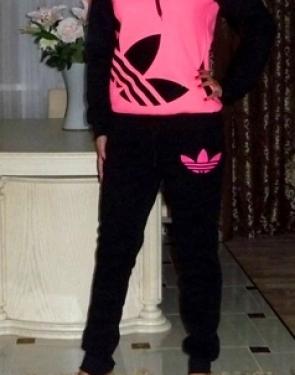 """Спортивный костюм утеплённый """"Adidas"""" Розовый"""