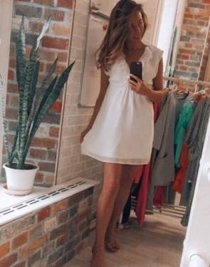 Шифоновое платье Белое