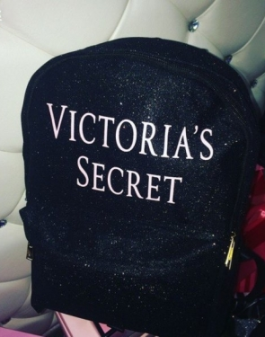 """Блестящий Рюкзак """"Victoria's Secret"""" / Черный"""