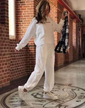 Спортивный костюм c капюшоном Feelings / Белый