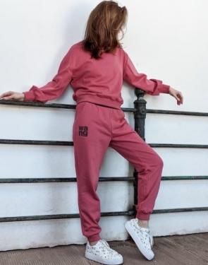 """Женский спортивный костюм """"Wang"""" / Розовый"""