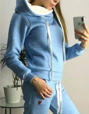 Спортивный костюм утеплённый флисом Soft / Голубой