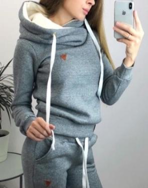 Спортивный костюм утеплённый флисом Soft / Светло-серый