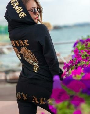 """Спортивный костюм """"ROYAL"""" Чёрный+Золото купить в интернет магазине В шоколаде.ру в Москве"""