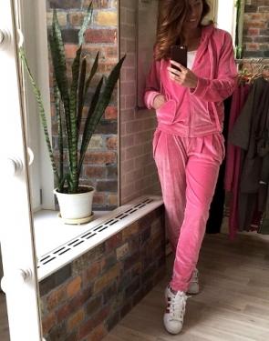 """Велюровый костюм """"Сosmo"""" Светло-розовый"""