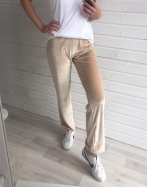 Спортивные штаны прямые узкие Бежевые