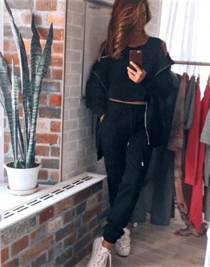 Спортивный костюм Street Style тройка / Черный