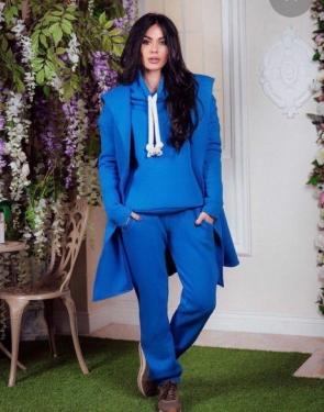 Спортивный костюм женский Тройка с кардиганом / Синий