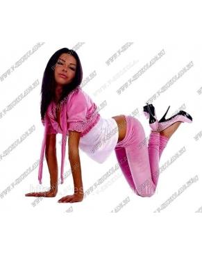 """Велюровый костюм """"Гламур"""" Розовый"""
