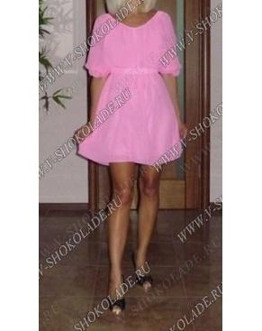 Розовое шифоновое платье. Купить недорого в интернет магазине