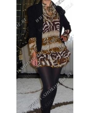 Шифоновое Платье-Топ-Туника Сафари