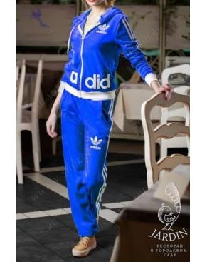 """Велюровый костюм на молнии """"A-did-as"""" Индиго"""