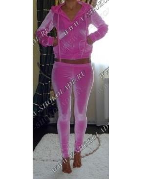 """Велюровый костюм с лосинами """"Микс"""" Розовый"""