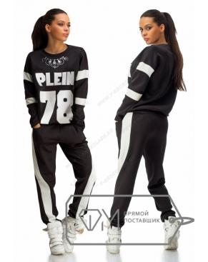 """Спортивный костюм женский """"Plein 78"""" Чёрный"""