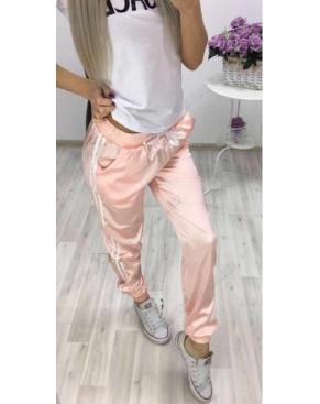 Атласные спортивные штаны / Нежно-розовый