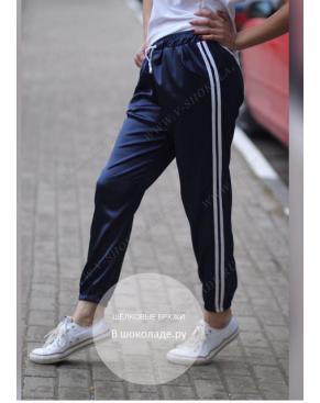 Атласные спортивные штаны / Чёрный