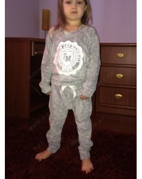 """Детский велюровый костюм """"Franklin Marshall"""" Серый"""