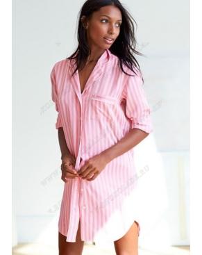 """Халат женский """" Victoria Secret """" розовый в полоску"""