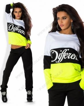 """Спортивный костюм """"Different"""" Черный-белый-салатовый"""