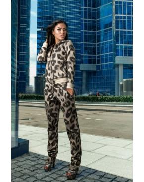"""Спортивный костюм женский """"Леопард крупный с люрексом"""""""