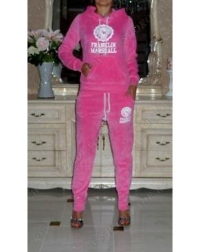"""Велюровый костюм Franklin Marshall """"Франклин Маршал """" Розовый с капюшоном"""