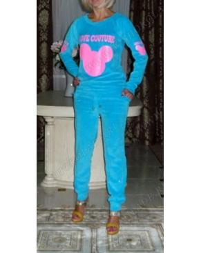 Велюровый костюм Микки Кутюр Голубой