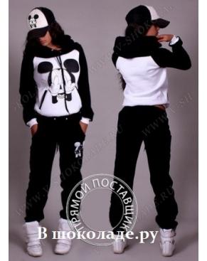 Спортивный костюм c Микки маусом с капюшоном Черный