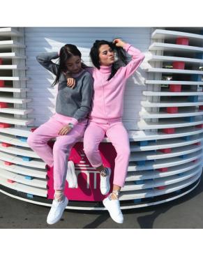 """Кашемировый женский костюм """"MUSKUS 02"""" с высоким горлом / Розовый"""