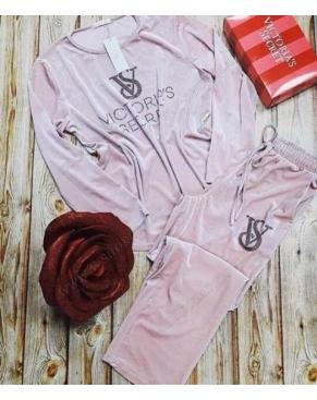 """Велюровый костюм """" Victoria's Secret """" / Розовый"""