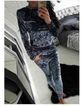 Спортивный костюм из бархата/ Серый гафит велюр