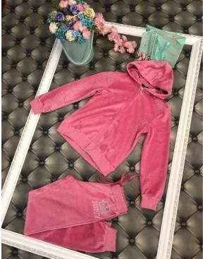 """Велюровый костюм на молнии """"Juicy Couture"""" / Розовый"""