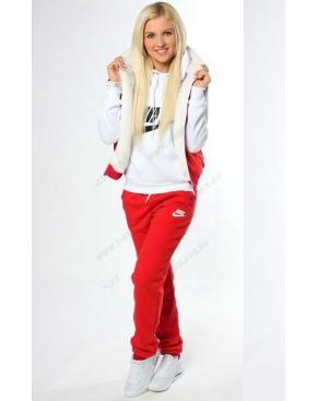 """Спортивный костюм женский """"Nike-3"""" Тройка Красный с мехом купить"""