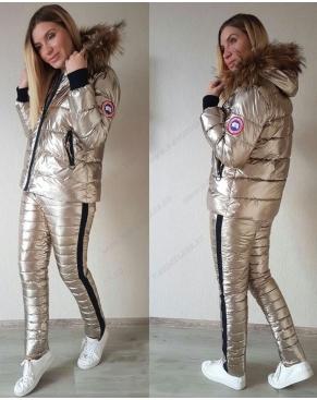 Зимний спортивный костюм Куртка+штаны / Золото