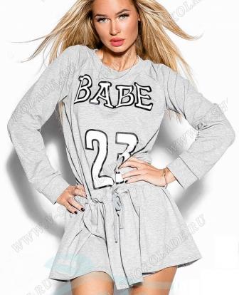 "Спортивное платье туника ""Babe 23"""