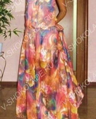 Шифоновое платье в пол  Яркое лето