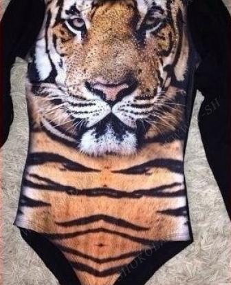 Боди с тигром