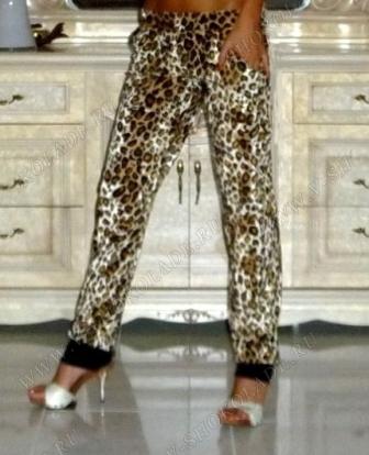 """Велюровые штаны """"Дольче"""" Леопардовые"""