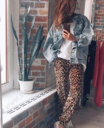 """Велюровые штаны """"Cosmo"""" Леопардовые"""