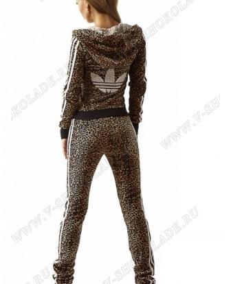 """Велюровый костюм на молнии """"A-did-as"""" Леопардовый купить в интернет магазине в шоколаде.ру"""