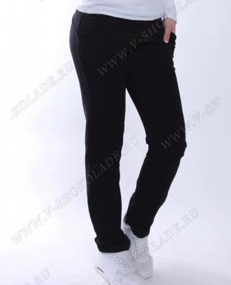 Утепленные спортивные штаны женские черные