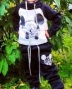 """Детский утепленный спортивный костюм """"Микки Маус"""" черный"""
